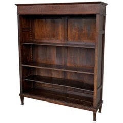 19th Century Antique Victorian Mahogany Open Bookcase with Three Shelves