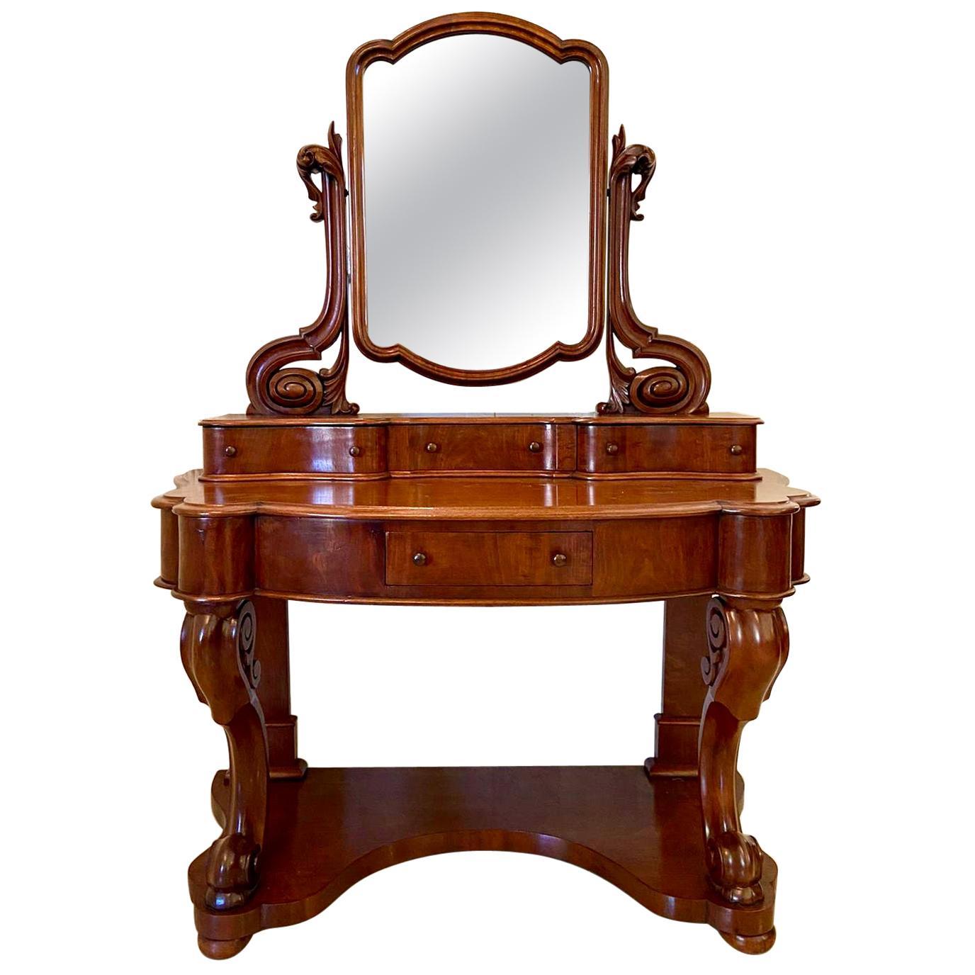 19th Century Antique Victorian Mahogany Vanity/Dressing Table