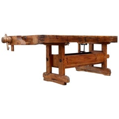 19th Century Antique Woodworker Bench