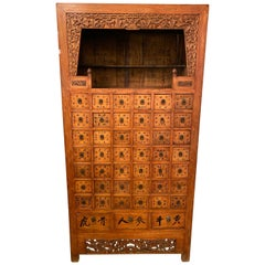 19th Century Apothecary Cabinet Having 45 Drawers, Large and Impressive