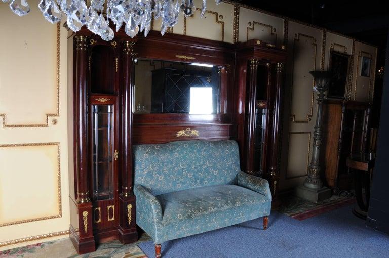 19th Century Architectural Empire Salon-Sofa Superstructure, circa 1890 For Sale 1