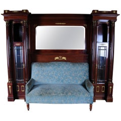 19th Century Architectural Empire Salon-Sofa Superstructure, circa 1890