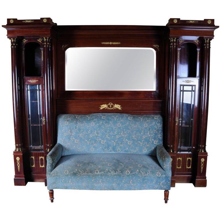 19th Century Architectural Empire Salon-Sofa Superstructure, circa 1890 For Sale