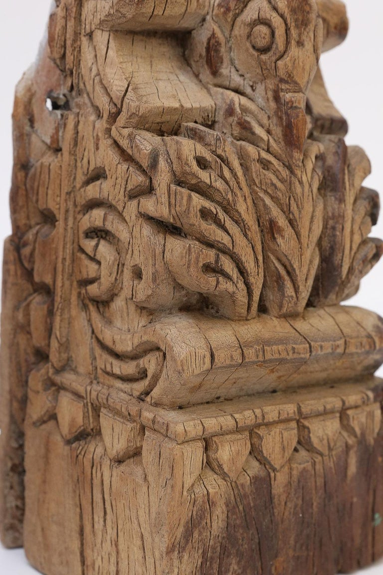 19th century architectural fragment hand carved in India.