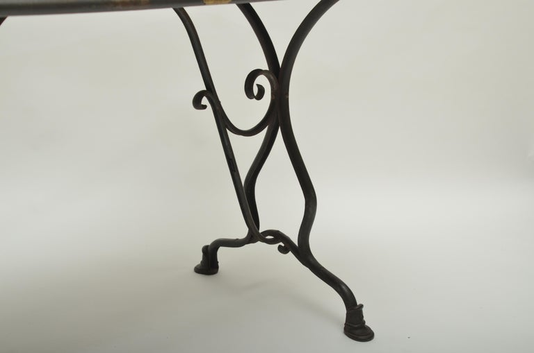 19th Century Arras Metal Table, Arras, France, 1880 In Good Condition For Sale In East Hampton, NY