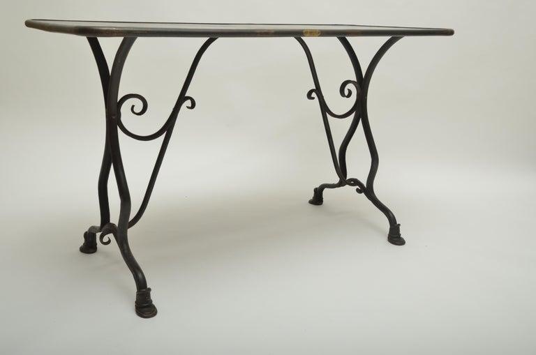 19th Century Arras Metal Table, Arras, France, 1880 For Sale 1