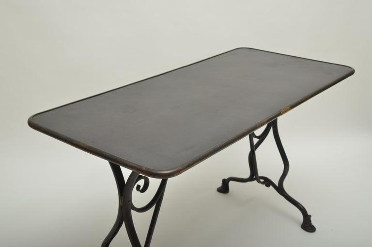 19th Century Arras Metal Table, Arras, France, 1880 For Sale 2