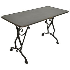 19th Century Arras Metal Table, Arras, France, 1880