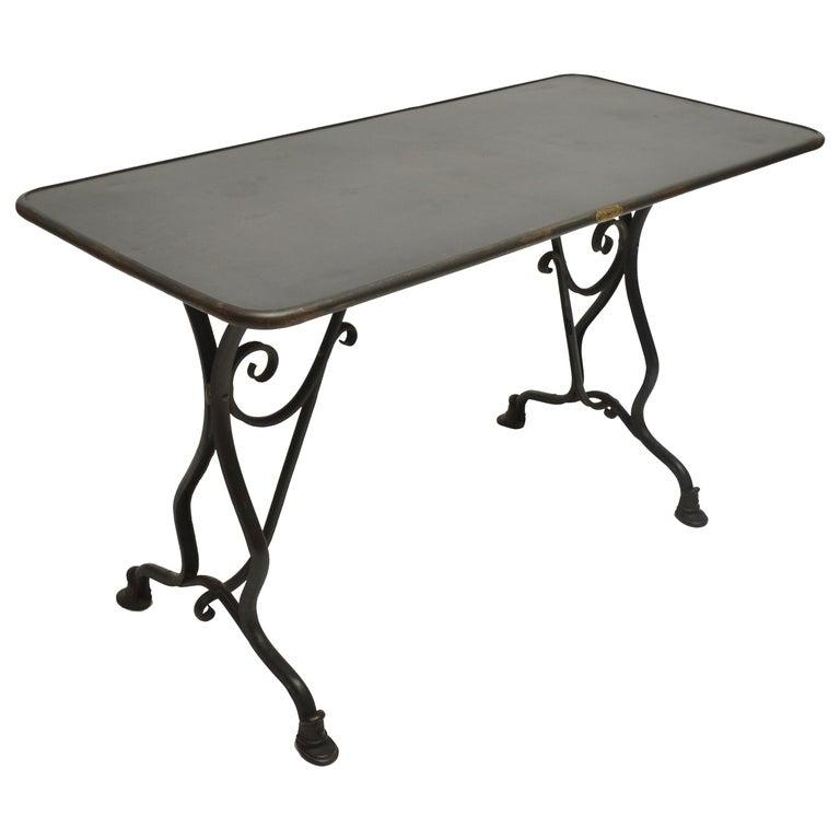 19th Century Arras Metal Table, Arras, France, 1880 For Sale