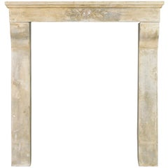 19th Century Art Nouveau Limestone Antique Fireplace Mantle