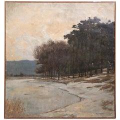 19th Century Art Nouveau Oil on Canvas Painting by Max Richter