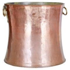 19th Century Arts & Crafts Shaped Copper Log Bin