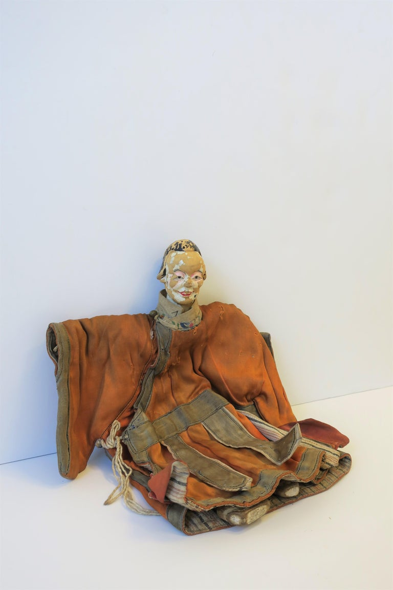 Hand-Painted 19th Century Asian Doll For Sale