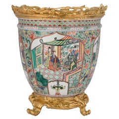 19th Century Asian Porcelain Urn with French 19th Century Ormolu Mounts