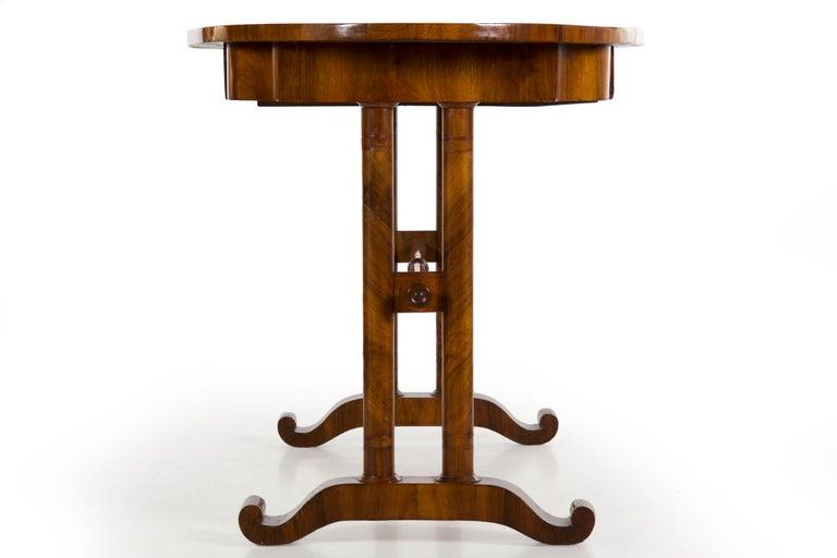 19th Century Austrian Biedermeier Antique Writing Table Desk, circa 1825-1845 For Sale 14