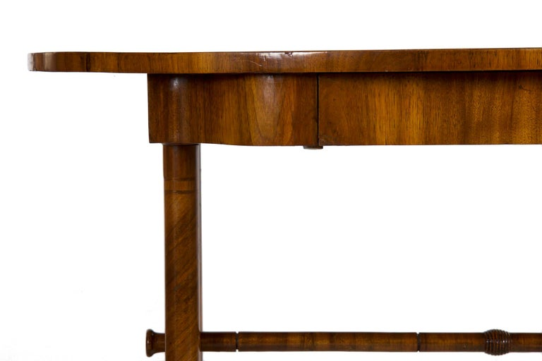 19th Century Austrian Biedermeier Antique Writing Table Desk, circa 1825-1845 For Sale 1