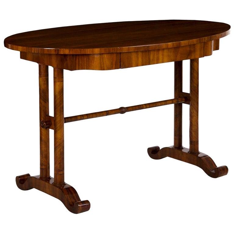 19th Century Austrian Biedermeier Antique Writing Table Desk, circa 1825-1845 For Sale