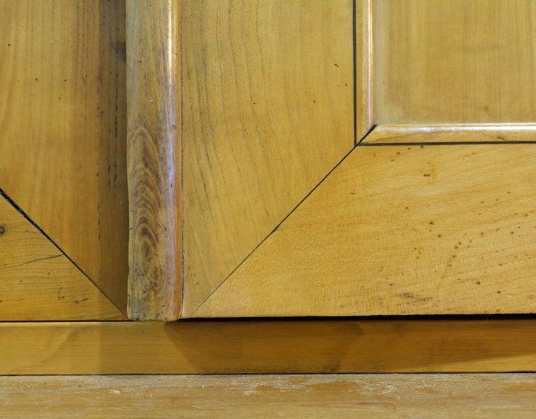 19th Century Austrian Biedermeier Fruit Wood Step Back Two Part Cubboard 8