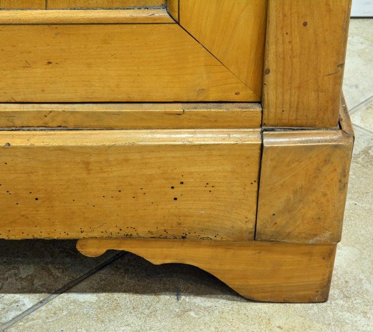 19th Century Austrian Biedermeier Fruit Wood Step Back Two Part Cubboard 11