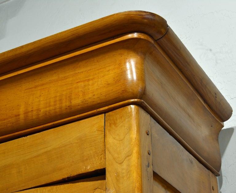 19th Century Austrian Biedermeier Fruit Wood Step Back Two Part Cubboard 12