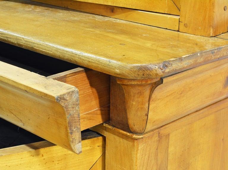 19th Century Austrian Biedermeier Fruit Wood Step Back Two Part Cubboard 5