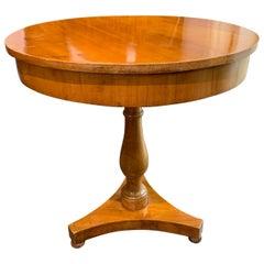 19th Century Austrian Biedermeier Maple Wood Side Table