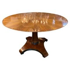 19th Century Austrian Biedermeier Rosewood Center Table