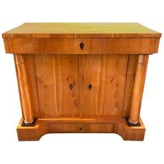 19th Century Austrian Biedermeier Style Maple Side Cabinet