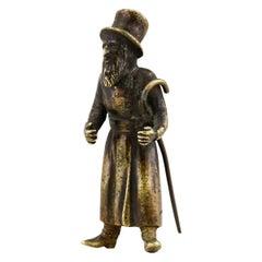 19th Century Austrian Bronze Figurine of a Jew