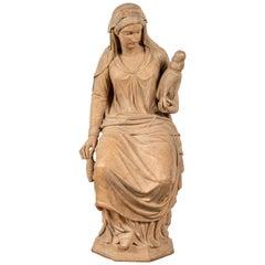 19th Century Austrian Sculpture of Fate