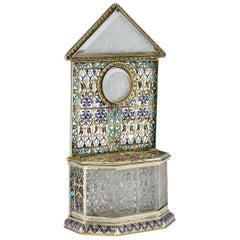 Austrian Solid Silver-Gilt and Enamel Reliquary by Rudolf Linke, circa 1890