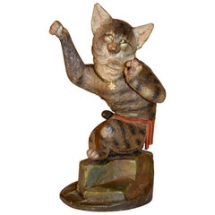 19th Century Austrian Terracotta Cat