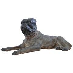 19th Century Austrian Terracotta Dog
