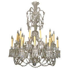 Antique Baccarat 24-Arm Chandelier