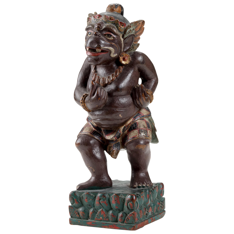19th Century Balinese Wood Sculpture of Twalen