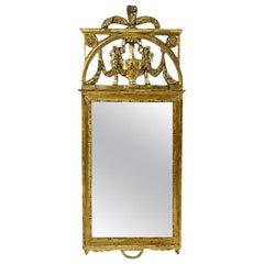 Antique Scandinavian Giltwood Mirror