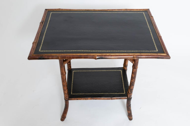 Georgian 19th Century Bamboo Side Table For Sale