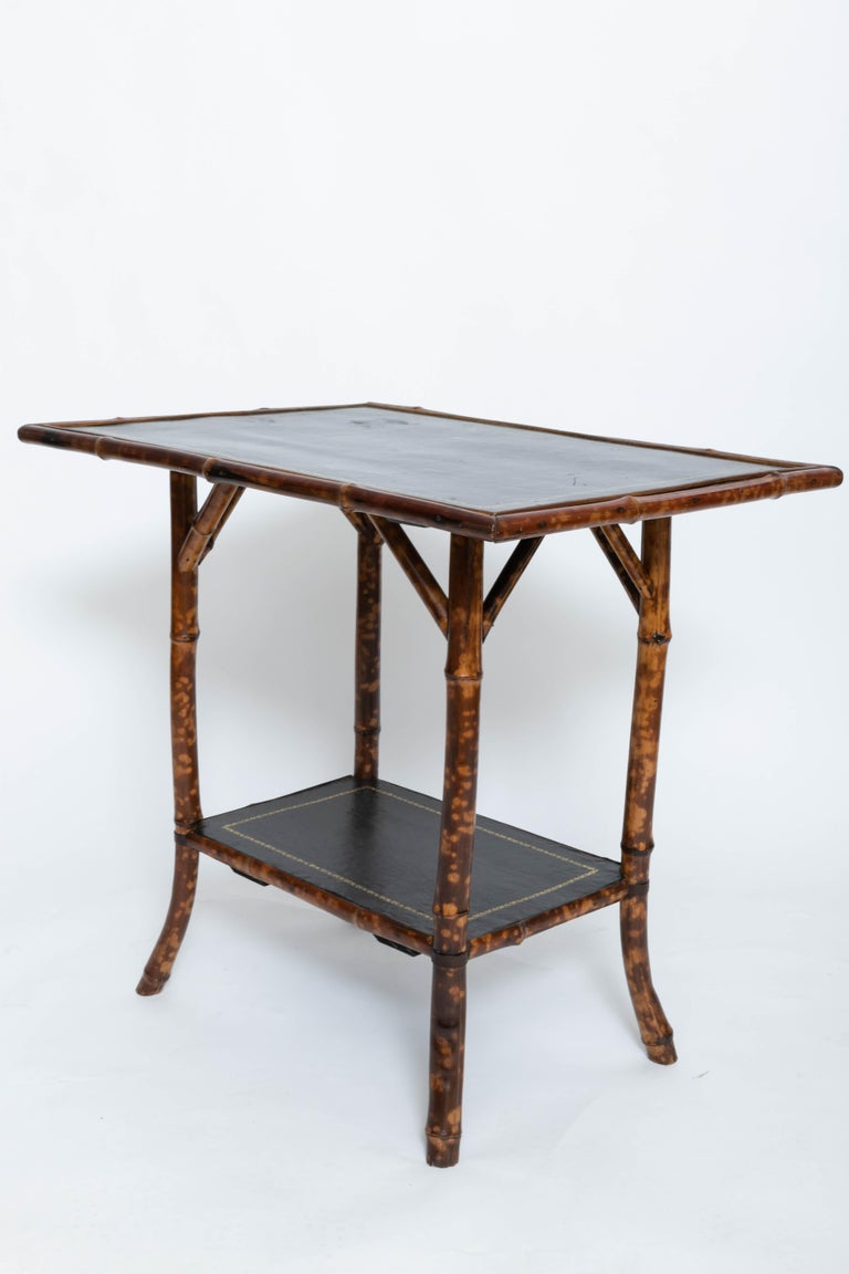 English 19th Century Bamboo Side Table For Sale