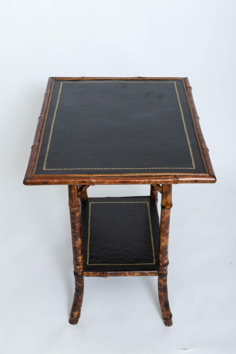 Hand-Crafted 19th Century Bamboo Side Table For Sale