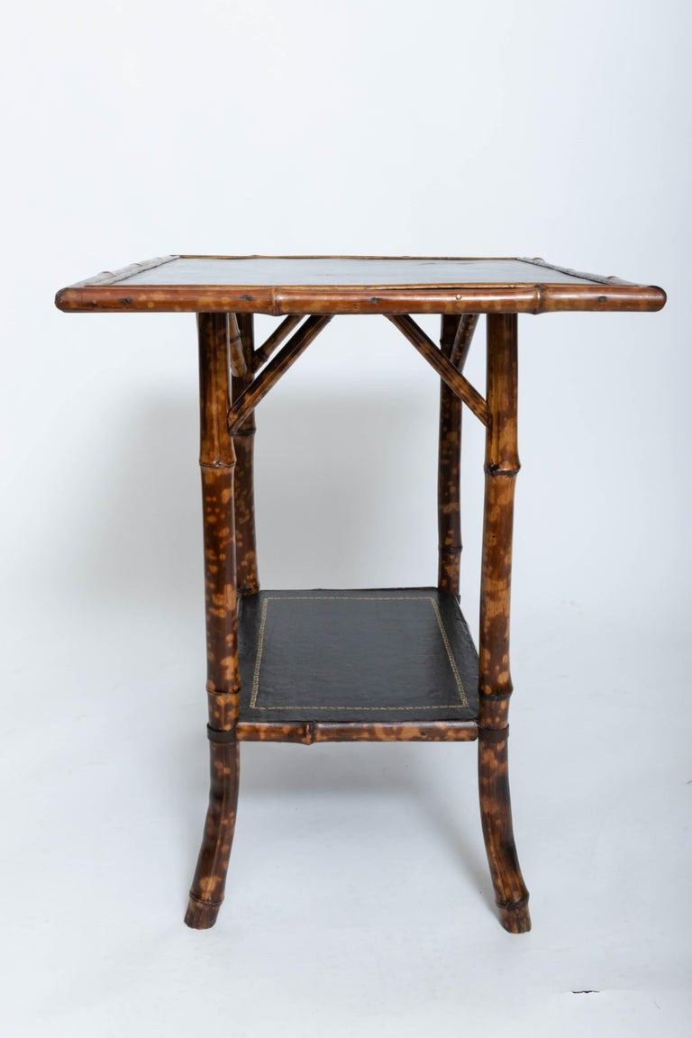 19th Century Bamboo Side Table In Good Condition For Sale In East Hampton, NY