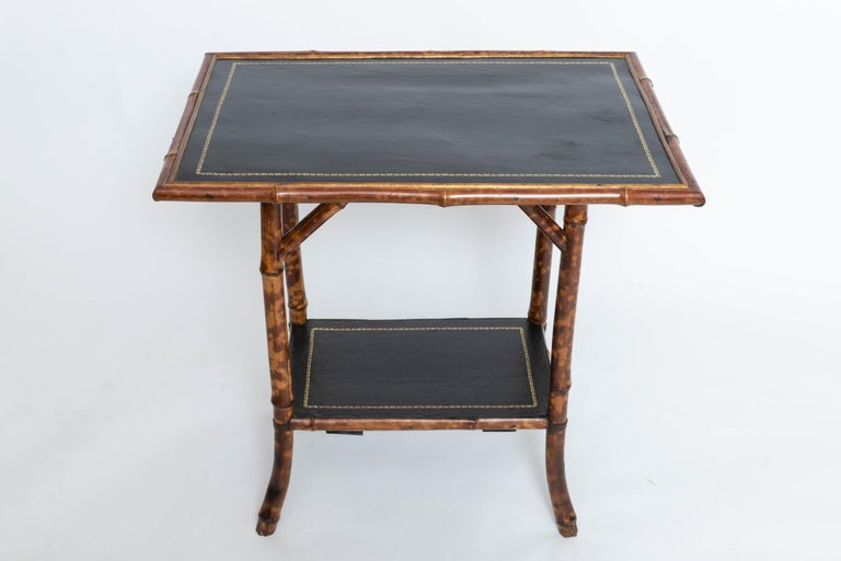 19th Century Bamboo Side Table For Sale 2