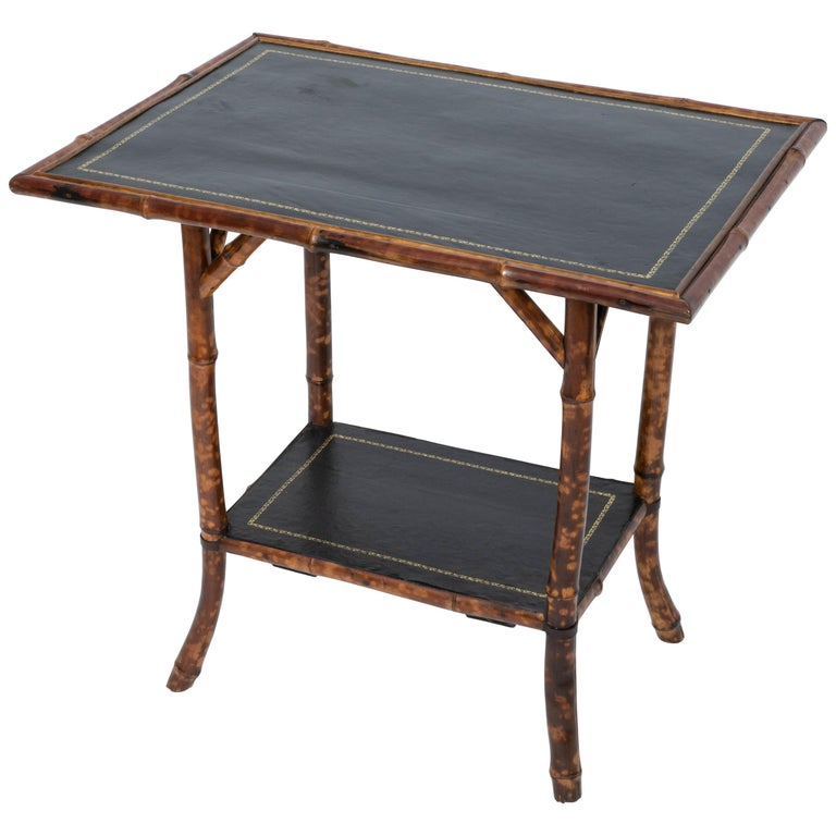 19th Century Bamboo Side Table For Sale