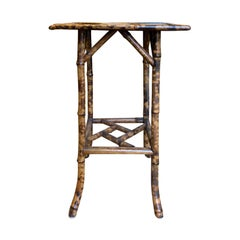 19th Century Bamboo Square Side Table