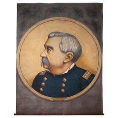 19th Century Banner Depicting Union General Phillip Sheridan