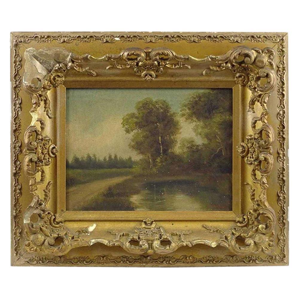 19th Century Barbizon Style Landscape Painting