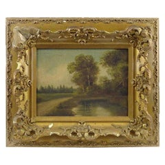 19th Century Barbizon Style Landscape Painting