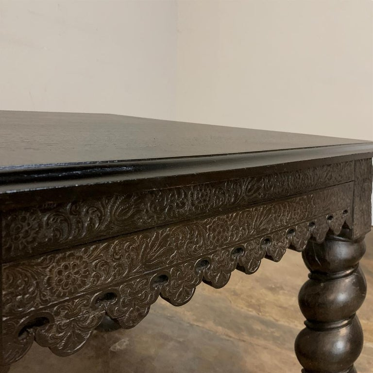 19th Century Barley Twist Square End Table In Good Condition For Sale In Dallas, TX