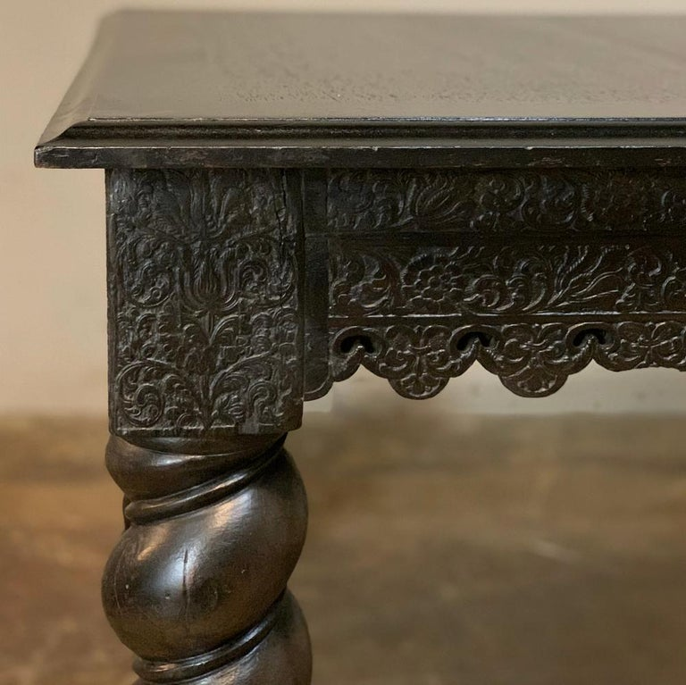 Late 19th Century 19th Century Barley Twist Square End Table For Sale