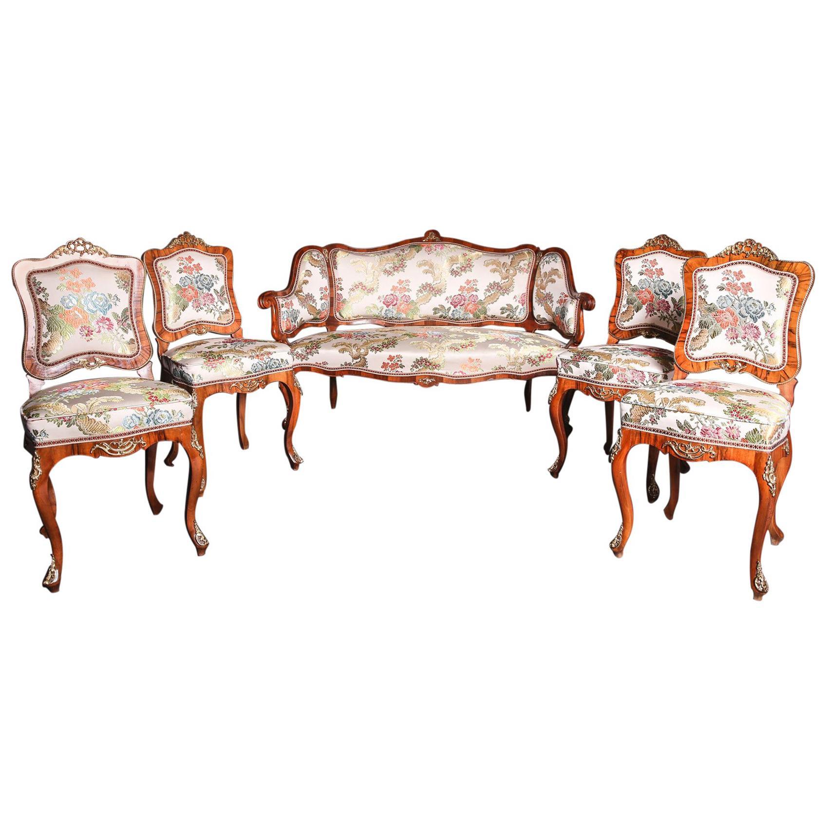 19th Century Baroque Saxony Seat Group, 1880