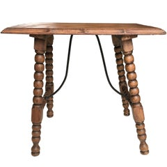 19th Century Baroque Spanish Side Table, End Table